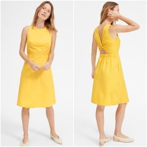 NWT EVERLANE The Clean Cotton Twist-Back Dress